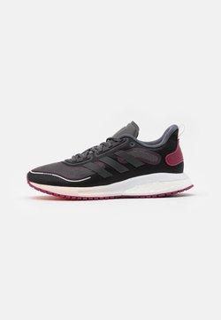 adidas Performance - SUPERNOVA BOOST BOUNCE COLD.RDY RUNNING SHOES - Obuwie do biegania treningowe - core black/night metallic/power berry