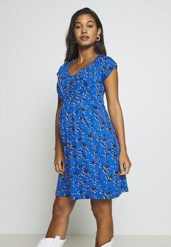 JoJo Maman Bébé - FLORAL NURSING TUNIC DRESS - Vestido ligero - blue