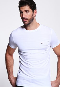 Tommy Hilfiger - NEW STRETCH TEE C-NECK - T-shirt basique - classic white