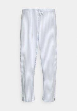 Lindex - NIGHT TROUSERS STRIPE SET - Pyjama - blue