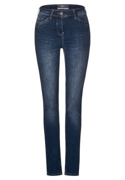 Cecil - DUNKELBLAUE TIGHT FIT DENIM - Slim fit jeans - blau