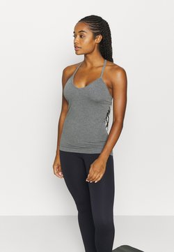 Sweaty Betty - MINDFUL  SEAMLESS YOGA VEST - Top - charcoal grey