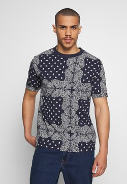 Tommy Jeans - ALLOVER BANDANA TEE - T-shirt con stampa - blue