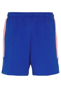 The North Face - EXTREME BLOCK SHORT - Jogginghose - blue/miami pink