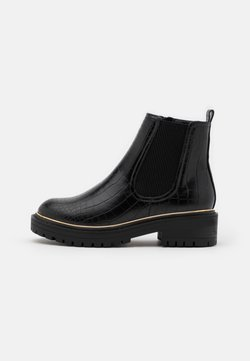 New Look - DANI PIPED CHELSEA - Platform ankle boots - black