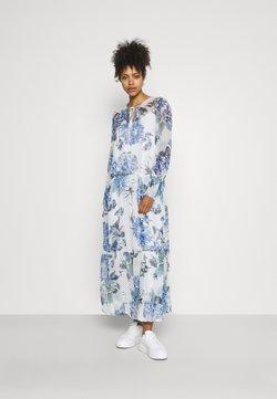 Vila - VIVIOLA O-NECK ANKLE  DRESS - Robe de soirée - cloud dancer/blue