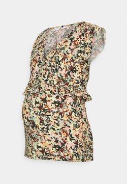 MAMALICIOUS - MLSYLVIE LIA CAP - T-Shirt print - mineral gray