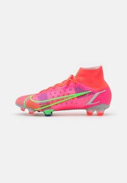Nike Performance - MERCURIAL 8 ELITE FG - Voetbalschoenen met kunststof noppen - bright crimson/metallic silver