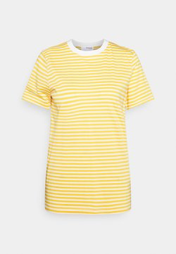 Selected Femme - SLFMY PERFECT TEE BOX CUT - T-Shirt print - citrus/snow white