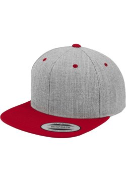 Flexfit - CLASSIC SNAPBACK 2-TONE - Cappellino - light grey/red