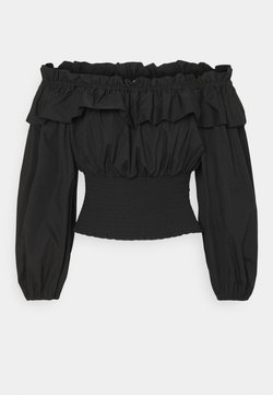 Gina Tricot - EXCLUSIVE BELLE OFFSHOULDER - Bluse - black
