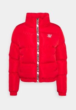 SIKSILK - PRINTED TAPE PADDED CROP JACKET - Winterjacke - red