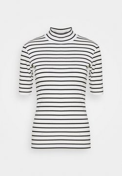 Kaffe - KAKAYLI LIDDY - T-Shirt print - black/chalk stripe