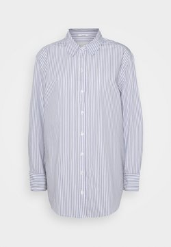 Abercrombie & Fitch - OVERSIZED COOL GIRL SHIRT - Hemdbluse - blue/white