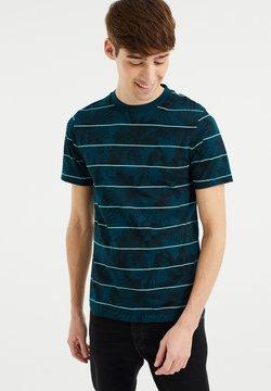 WE Fashion - T-Shirt print - greyish green