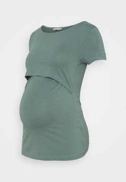 Anna Field MAMA - SET - T-shirt con stampa - teal