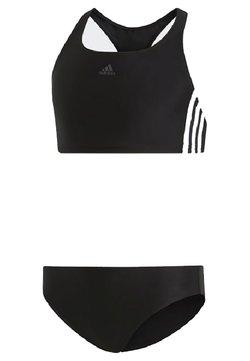 adidas Performance - FIT 3 STRIPES PRIMEBLUE SWIM BIKINI SET - Bikini - black