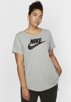 Nike Sportswear - TEE FUTURA PLUS - T-Shirt print - dark grey heather/black