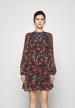 NA-KD - RAGLAN SHOULDER FLOWY DRESS - Vapaa-ajan mekko - black