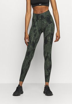 Casall - ICONIC PRINTED  - Tights - survive dark green