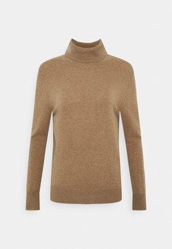 pure cashmere - TURTLENECK - Strickpullover - dark beige