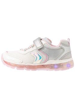 Geox - GIRL - Sneaker low - silver/white