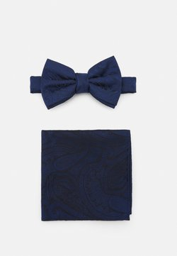 Burton Menswear London - PAISLEY BOWTIE AND HANKIE SET - Fliege - navy
