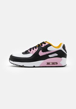 Nike Sportswear - AIR MAX 90 LTR GS - Sneakers laag - black/light arctic pink/white/dark sulfur