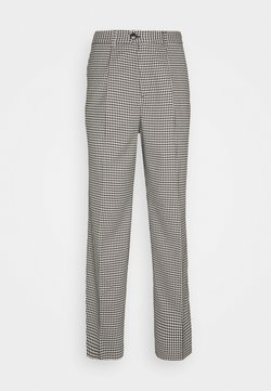 Weekday - CONRAD CHECKED TROUSERS - Trousers - dark grey