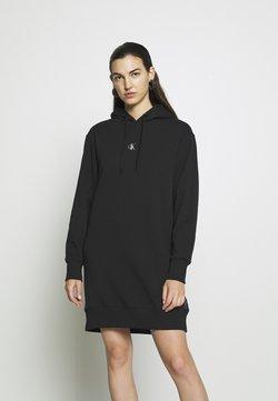 Calvin Klein Jeans - OUTLINE LOGO DRESS - Day dress - black