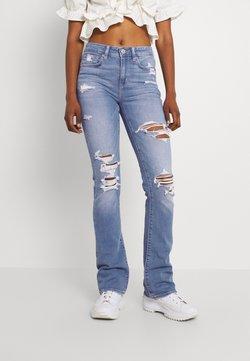 American Eagle - HI RISE SKINNY  KICK - Jeans Skinny Fit - classic vintage destroy