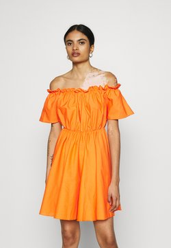 Missguided - BARDOT SKATER DRESS - Day dress - orange