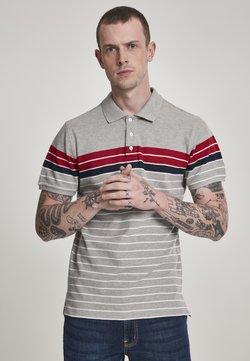 Urban Classics - CLASSICSTRIPE - Poloshirt - grey/navy/white