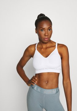 Under Armour - SEAMLESS LOW LONG BRA - Sport BH - white