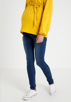 MAMALICIOUS - MLLOLA ELASTIC - Slim fit jeans - blue denim