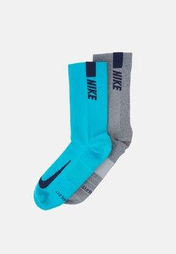 Nike Performance - 2 PACK UNISEX - Sportsocken - light smoke grey/chlorine blue
