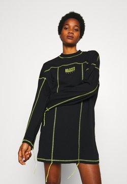 The Ragged Priest - EXPOSED SEAM DRESS - Freizeitkleid - black/lime