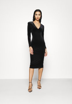 Good American - DEEP MIDI DRESS - Jersey dress - black