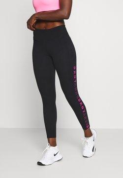 DKNY - 7/8 SIDE - Tights - black/pink