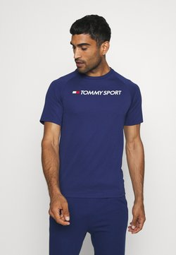 Tommy Hilfiger - TRAINING BACK LOGO - Printtipaita - blue