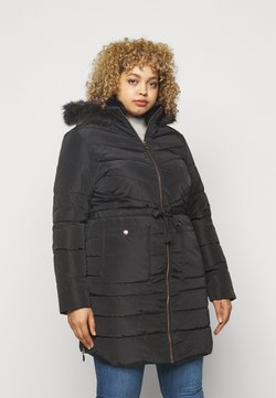 CAPSULE by Simply Be - LUXE LONGLINE PADDED COAT - Wintermantel - black