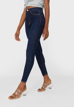 Stradivarius - Jeans Skinny - dark blue