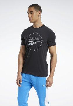 Reebok - GRAPHIC SERIES SPEEDWICK TEE - Camiseta estampada - black