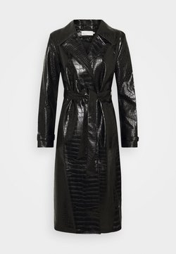 Nly by Nelly - CROCO COAT - Trenchcoat - black
