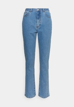 Missguided Tall - HIGHWAISTED STRETCH - Straight leg jeans - blue