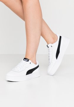 Puma - SKYE - Matalavartiset tennarit - white/black