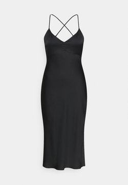 Abercrombie & Fitch - CROSS BACK MIDI DRESS - Cocktailkleid/festliches Kleid - black