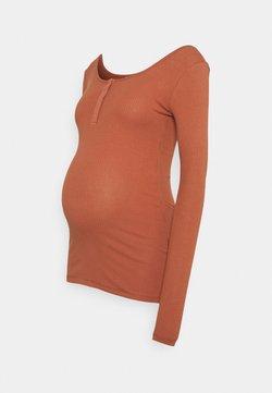 Pieces Maternity - PCMKITTE - Pitkähihainen paita - copper brown