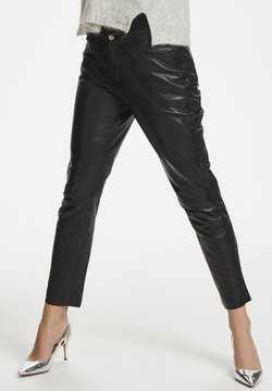Denim Hunter - Pantalon en cuir - black
