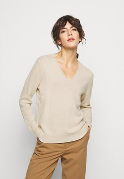 Polo Ralph Lauren - CLASSIC LONG SLEEVE - Stickad tröja - tallow cream